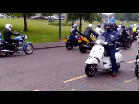 YesBikers arrive at Glasgow Green June 3rd