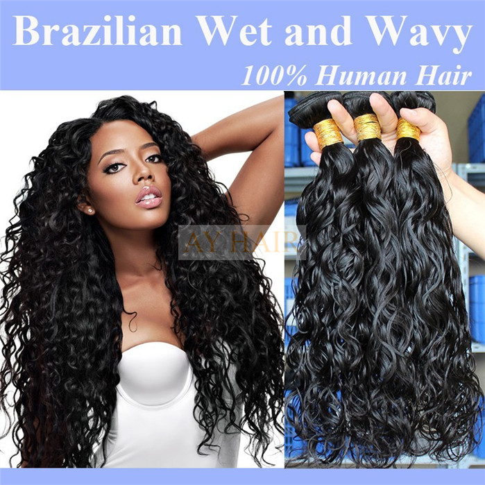 Natural Black Color Popular Style Wet And Wavy Peruvian