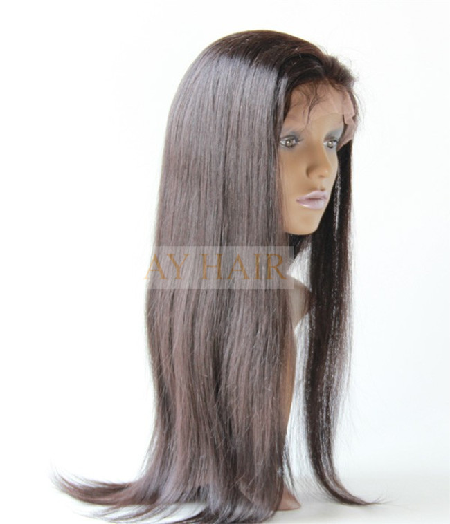 Full lace wig silky striaght natural black color (4)