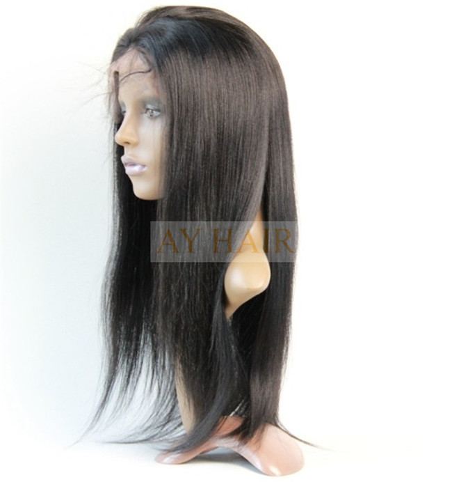 Full lace wig yaki straight color 1#03