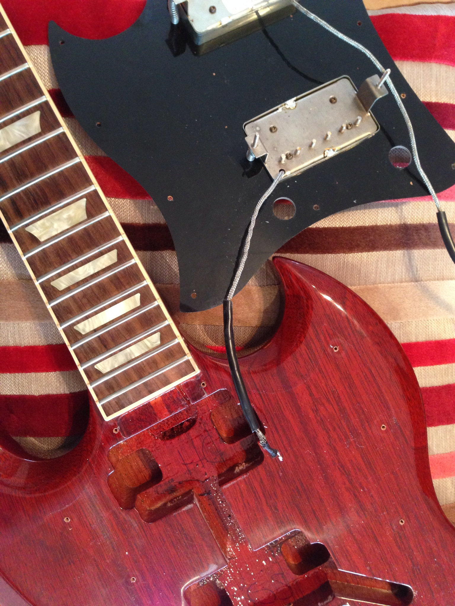gibson sg pickup removal guitar set ups and repairs aylesbury. Black Bedroom Furniture Sets. Home Design Ideas