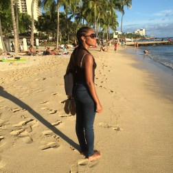 Black-Girl-Waikiki-Beach-Honolulu-HI-Vacation