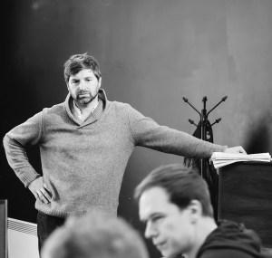 John Lightbody in rehearsal for 'Microcosm' (c) Katie Cotterell