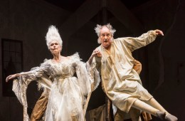 A Christmas Carol - Noel Coward Theatre - Jim Broadbent & Amelia Bullmore (c) Johan Persson