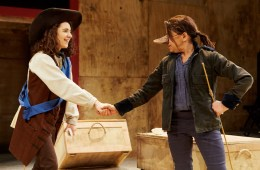 Ellie Kendrick (Christian) & Kathryn Hunter (Cyrano) Photo credit Richard Lakos