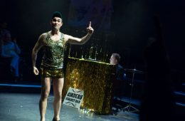 Cockpit Theatre, Royal Vauxhall Tavern, Pantomime, Adult, 18+, Christmas, Off-West End, Alistair Frederick, Tim McAr-thur, Matthew Jones, Stewart Briggs, Abigail Carter-Simpson, Paul Emelion Daly