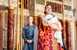 The Globe Theatre, The Winter's Tale, William Shakespeare, Michelle Terry, Blanche McIntyre, Annette Badland, Zora Bishop, Adrian Bower, Priyanga Burford, Becci Gemmell, Will Keen, Norah Lopez-Holden, Luke MacGregor, Jordan Metcalfe, Oliver Ryan, Sirine Saba, Howard Ward, Rose Wardlaw, James Perkins, Royal Shakespeare Company.