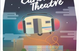 Digital Caravan Theatre poster, a Caravan wearing headphones