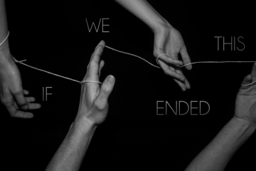 Hands and String around the title of the play