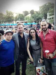 Director Christopher Chambers and lead actor John Roohinian visit Swan Lake for the Melon Festival with Armenian Pop-Star Narek Makaryan & Journalist Lily Avagyan
