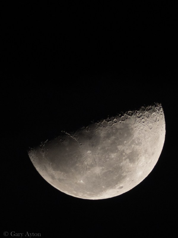 crop of handheld moon with TC on