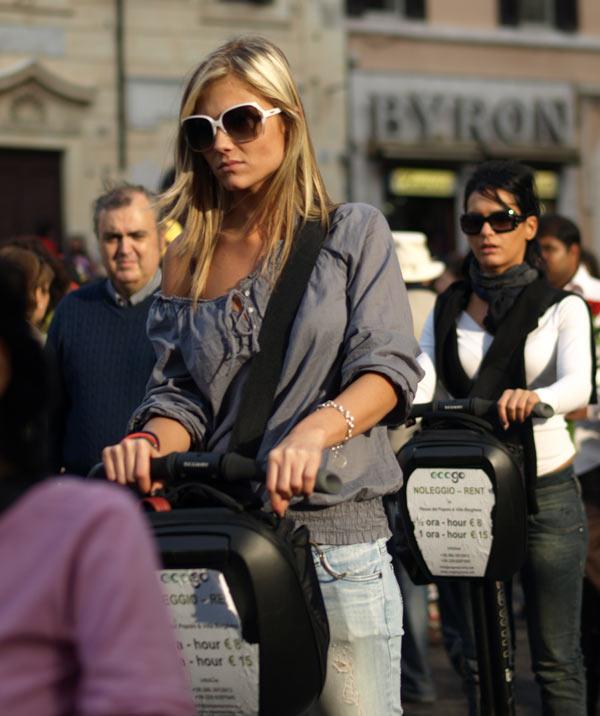 Blonde tourist