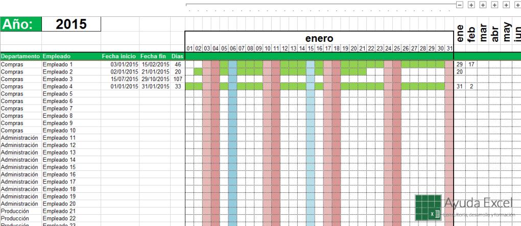 Calendario Lineal.Calendario Lineal Excel 2015 Calendarios Hd