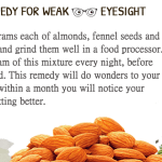 fight weak eyesight with almond and fennel seeds