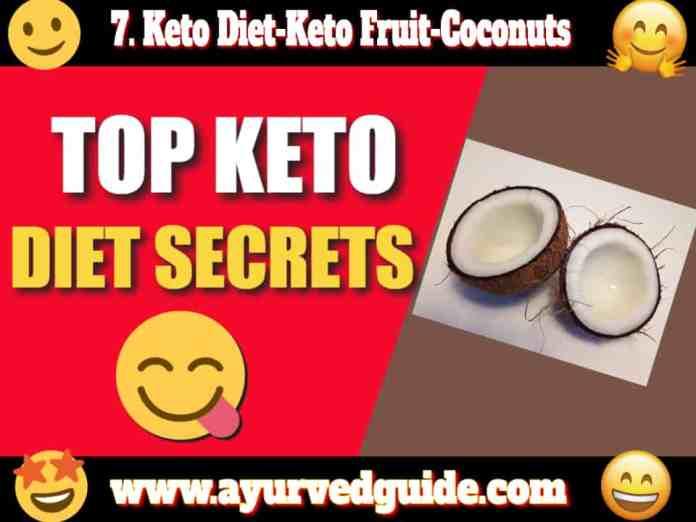 Keto Diet-Keto Fruit-Coconuts