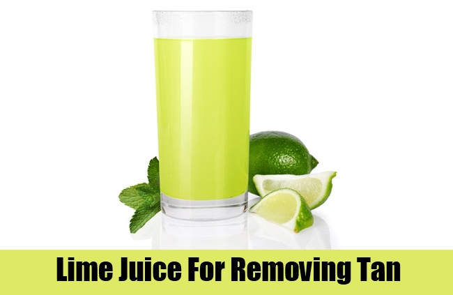Lime Juice For Removing Tan