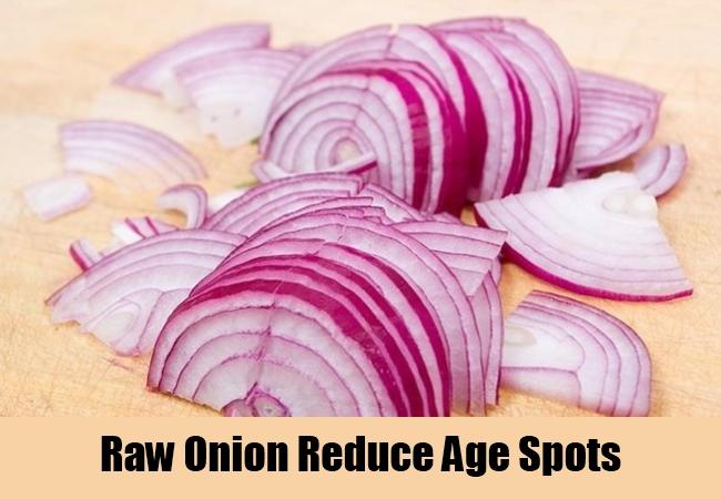 Raw Onion Reduce Age Spots
