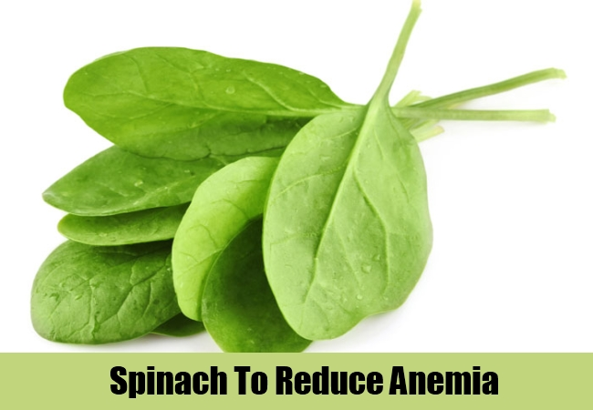 Spinach To Reduce Anemia