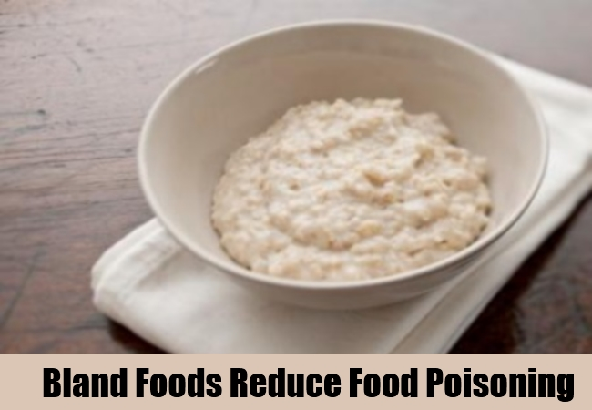 Bland Foods Reduce Food Poisoning