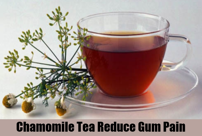 Chamomile Tea Reduce Gum Pain