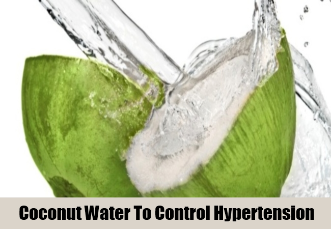 Coconut Water To Control Hypertension