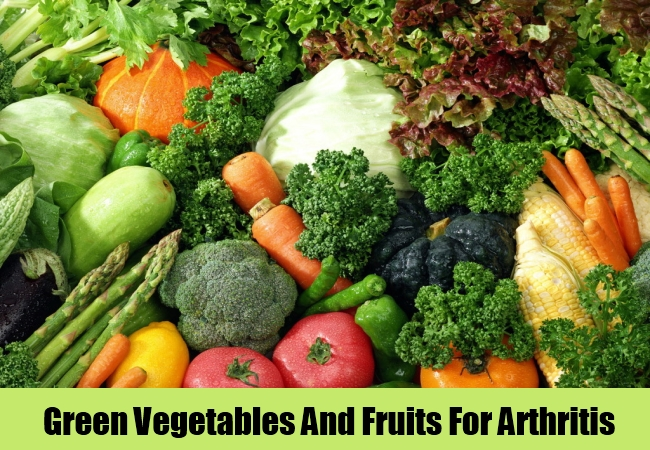 Green Vegetables And Fruits For Arthritis