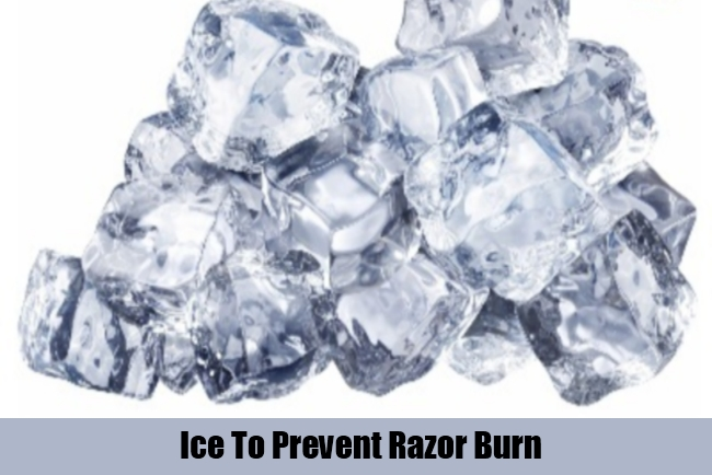 Ice To Prevent Razor Burn