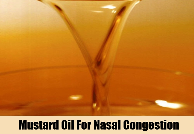 Mustard Oil For Nasal Congestion