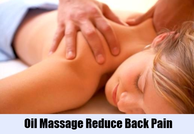Oil Massage Reduce Back Pain