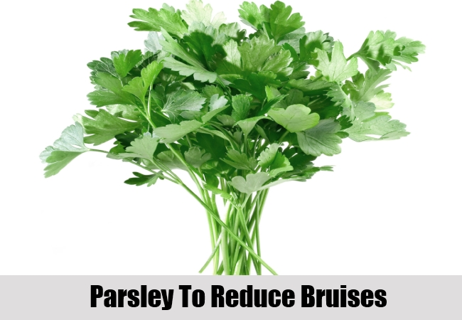 Parsley To Reduce Bruises