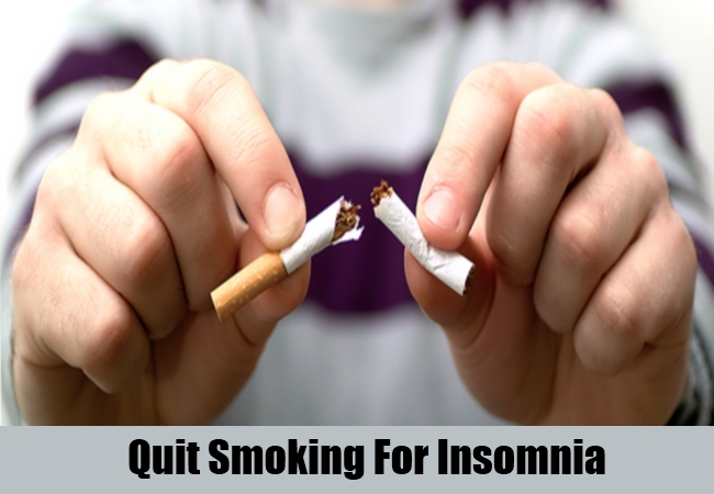 Quit Smoking For Insomnia