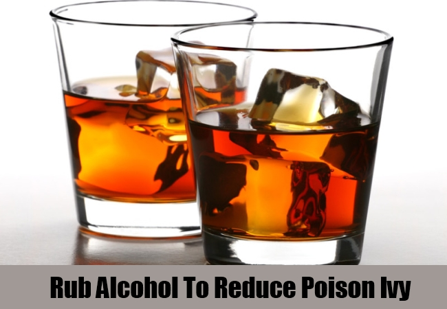 Rub Alcohol To Reduce Poison Ivy