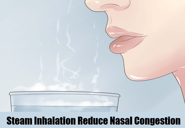 Steam Inhalation Reduce Nasal Congestion