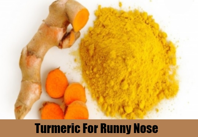 Turmeric For Runny Nose