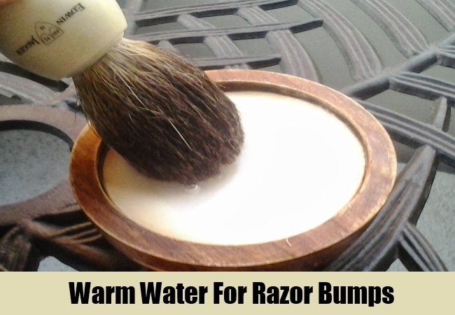 Warm Water For Razor Bumps