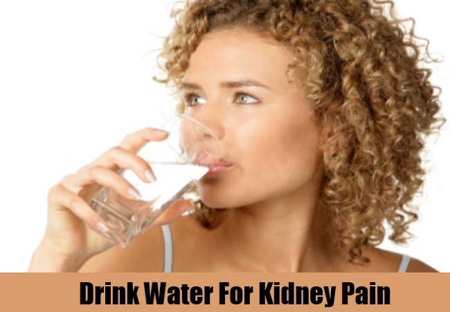Drink Water For Kidney Pain