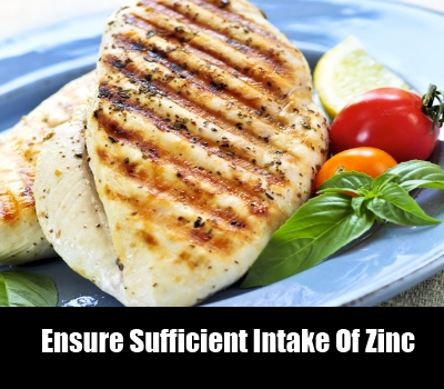 Ensure Sufficient Intake Of Zinc
