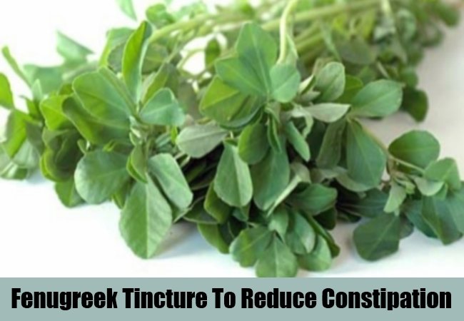 Fenugreek Tincture To Reduce Constipation