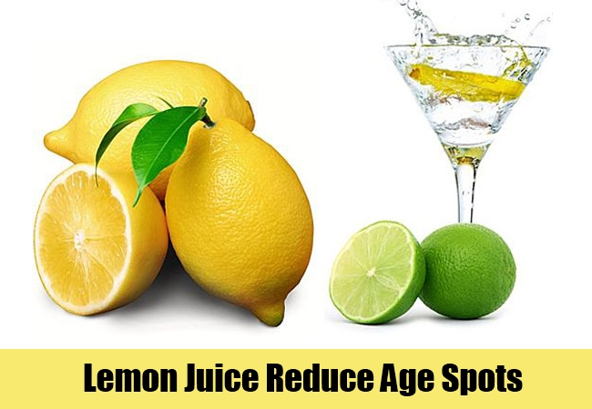 Lemon Juice Reduce Age Spots