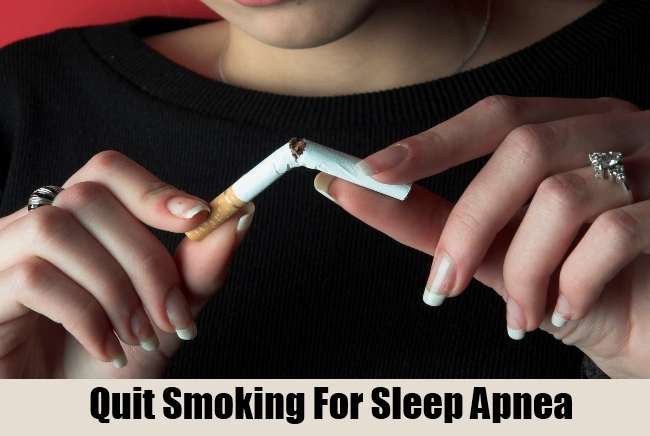 Quit Smoking For Sleep Apnea