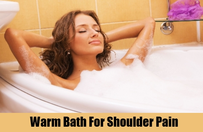 Warm Bath For Shoulder Pain