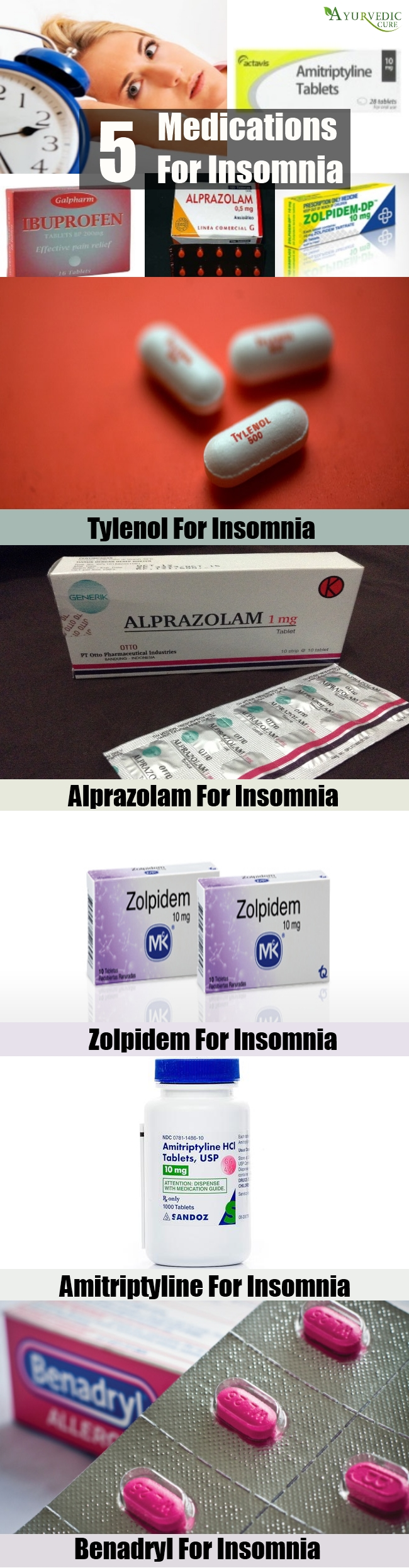 5 Useful Medications For Insomnia