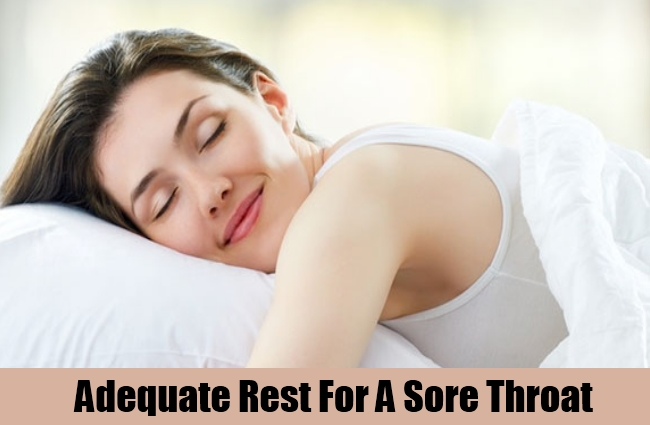 Adequate Rest For A Sore Throat