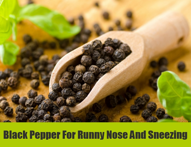 Black Pepper For Runny Nose And Sneezing