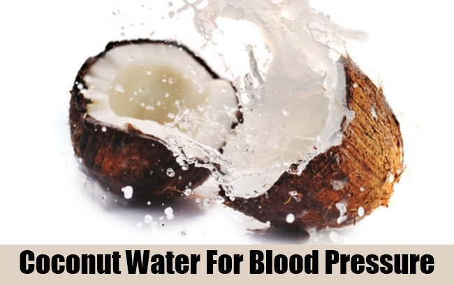 Coconut Water For Blood Pressure