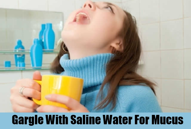 Gargle With Saline Water For Mucus