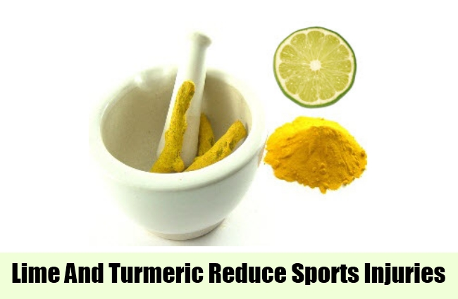 Lime And Turmeric Reduce Sports Injuries