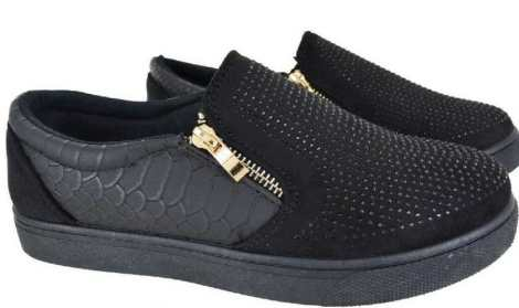 New Funky Look Black Running Shoes for Women