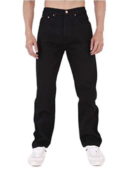Mens-Aztec-Heavy-Duty-Basic-Straight-Leg-Regular-FIT-Jeans-22