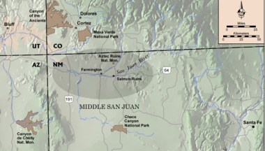 Map of the Middle San Juan
